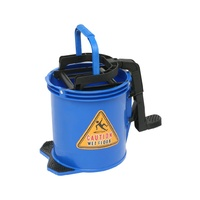 EDCO 16L Commercial Heavy Duty Metal Wringer Mop Bucket - Blue