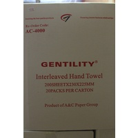 Gentility Interleaved Hand Towels 1ply
