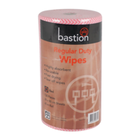 Bastion Regular Duty Wipes 65m - Red