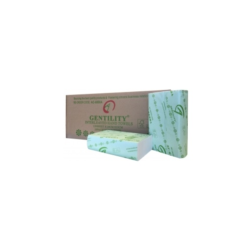 Gentility hand towels green 120s 1ply
