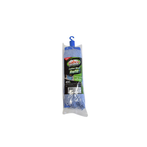 SABCO Professional 400g Cotton Mop Head Refill - Blue